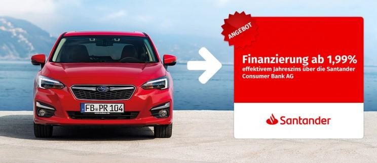 Finanzierung ab 1,99% effektivem Jahreszins über die Santander Consumer Bank