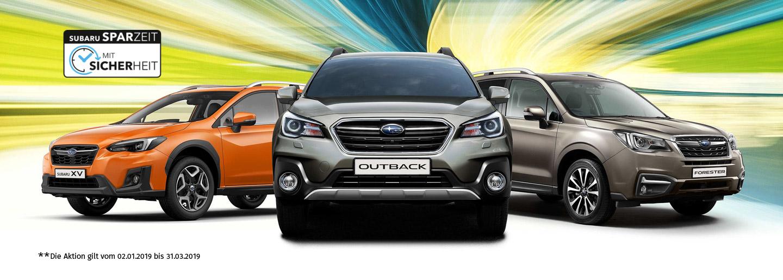 Subaru Sparzeit Frühjahr 2019